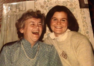 A light moment with Mommy and me -- circa 1980